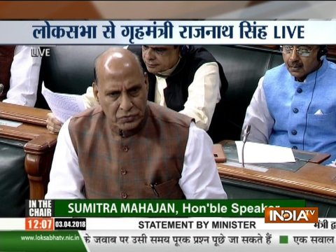 Central government hasn't made any changes in the SC/ST Act: Rajnath Singh in Lok Sabha