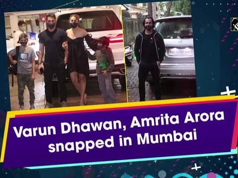 Varun Dhawan, Amrita Arora snapped in Mumbai