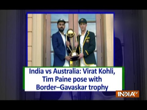 India vs Australia: Virat Kohli, Tim Paine pose with Border-Gavaskar trophy