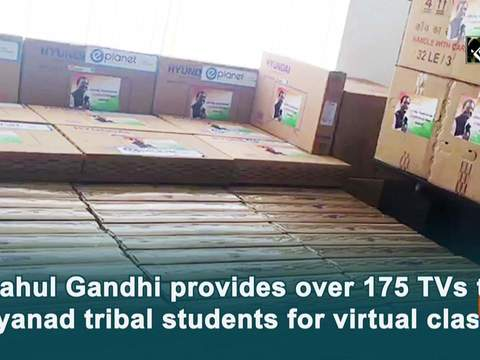Rahul Gandhi provides over 175 TVs to Wayanad tribal students for virtual classes
