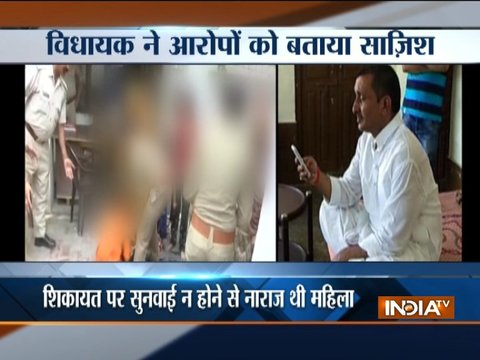 Woman attempts suicide outside UP CM's residence over alleged rape by BJP MLA