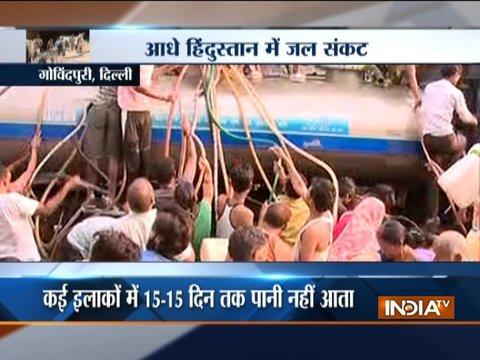 तापमान बढ़ने से, दिल्ली के कई क्षेत्रों में पानी की कमी