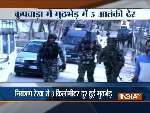 Five militants gunned down in Kupwara encounter; two policemen, three army jawans martyred