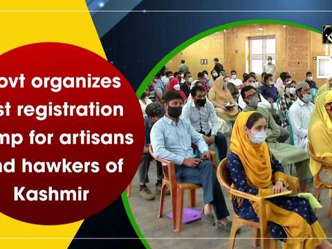 Govt organizes first registration camp for artisans and hawkers of Kashmir