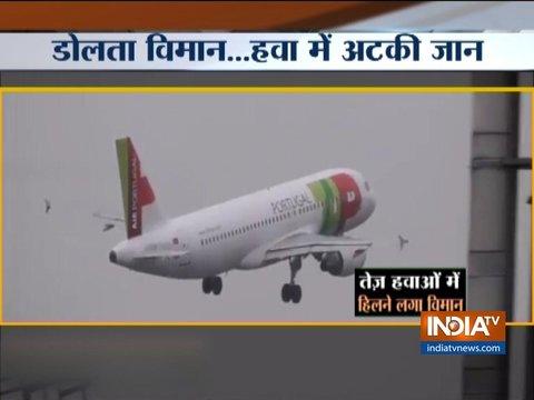 ब्रिटेन: तूफान के चलते मैनचेस्टर एयरपोर्ट पर लैंड नहीं हो पाया विमान