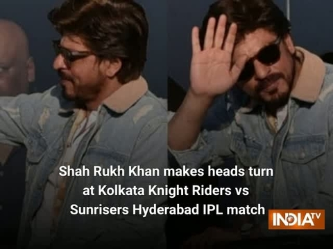 Shah Rukh Khan makes heads turn at Kolkata Knight Riders vs Sunrisers Hyderabad IPL match