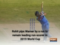 Rohit Sharma top the list of highest run-getters at 2019 World Cup