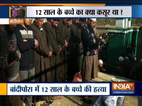 जम्मू-कश्मीर के बांदीपोरा में आतंकियों ने की 12 साल के बच्चे की हत्या