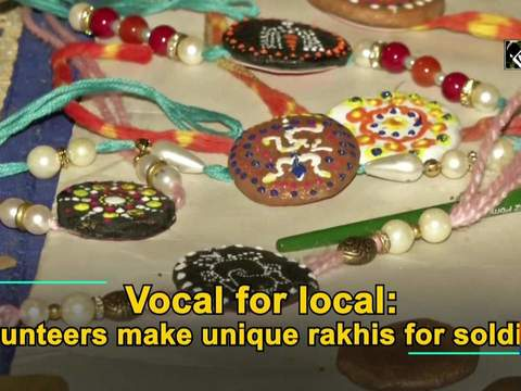 Vocal for local: Volunteers make unique rakhis for soldiers