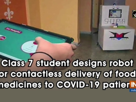 Class 7 student designs robot for contactless delivery of food, medicines to COVID-19 patients