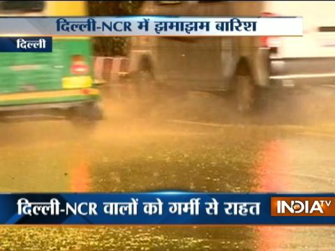 Early morning rain brings temperature down in Delhi-NCR