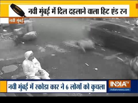 तेज रफ्तार स्कोडा ने नवी मुंबई में छह लोगों को कुचला, दो की मौत
