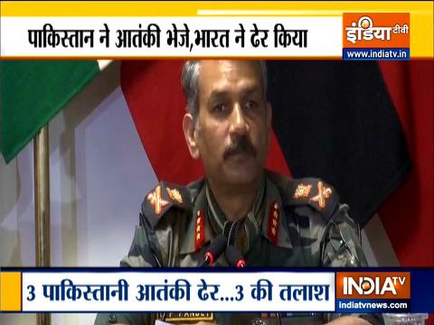 सेना ने जम्मू-कश्मीर के बारामूला में LoC के पास घुसपैठ की कोशिश को नाकाम किया, 3 आतंकवादी ढेर