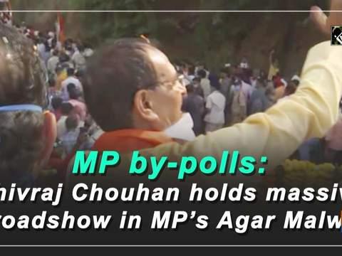 MP by-polls: Shivraj Chouhan holds massive roadshow in MP's Agar Malwa