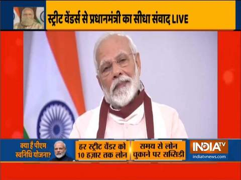 PM Modi interacts with SVANidhi beneficiaries from Uttar Pradesh via video conferencing