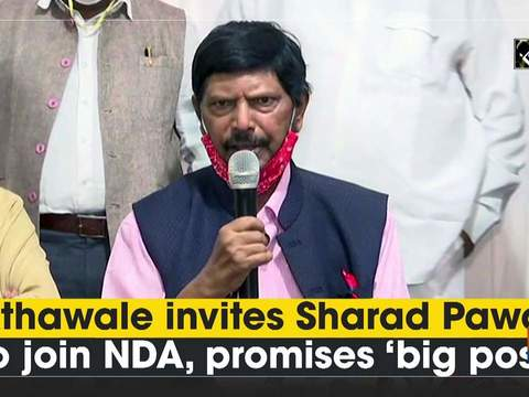Athawale invites Sharad Pawar to join NDA, promises 'big post'