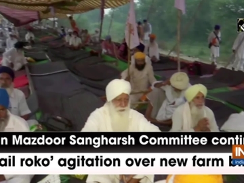 Kisan Mazdoor Sangharsh Committee continues 'rail roko' agitation over new farm bills