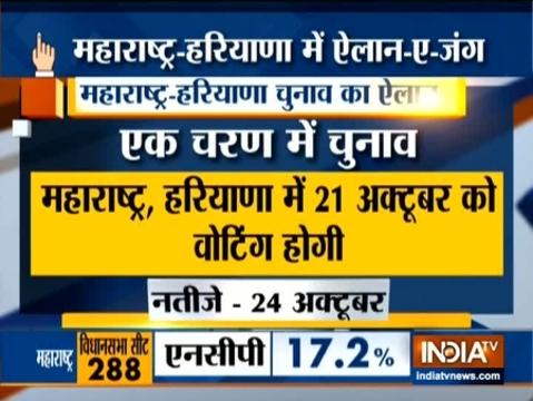 महाराष्ट्र और हरियाणा में होंगे एक चरण में चुनाव
