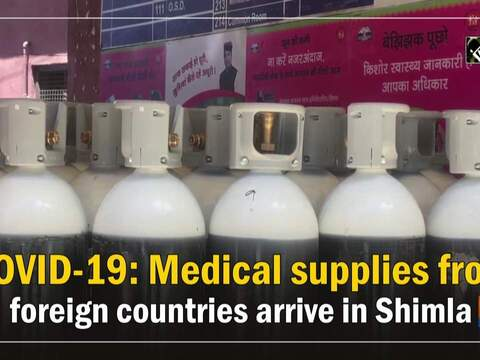 COVID-19: Medical supplies from foreign countries arrive in Shimla