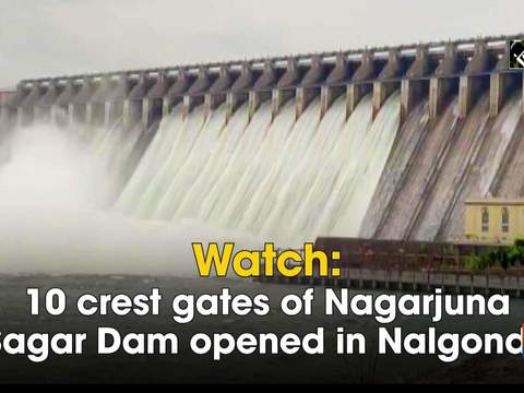 Watch: 10 crest gates of Nagarjuna Sagar Dam opened in Nalgonda