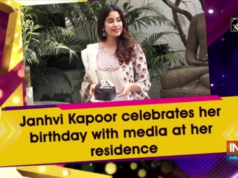 Janhvi Kapoor celebrates her birthday with media at her residence