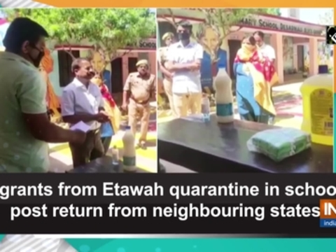 Migrants from Etawah quarantine in schools post return from neighbouring states