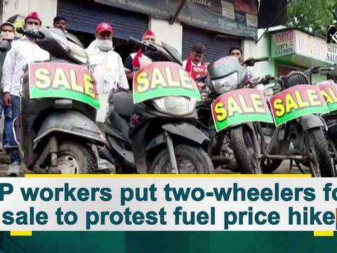 SP workers put two-wheelers for sale to protest fuel price hike
