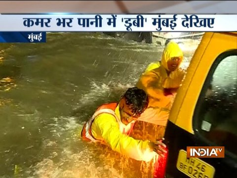 Heavy rains in parts of Mumbai, results in water-logging and traffic jams