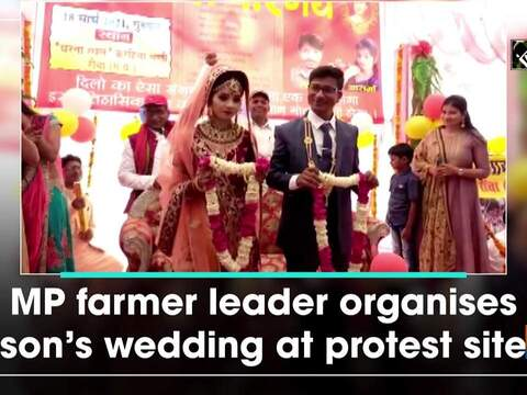 MP farmer leader organises son's wedding at protest site