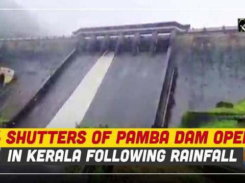 6 shutters of Pamba dam open in Kerala following rainfall