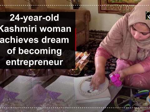 24-year-old Kashmiri woman achieves dream of becoming entrepreneur
