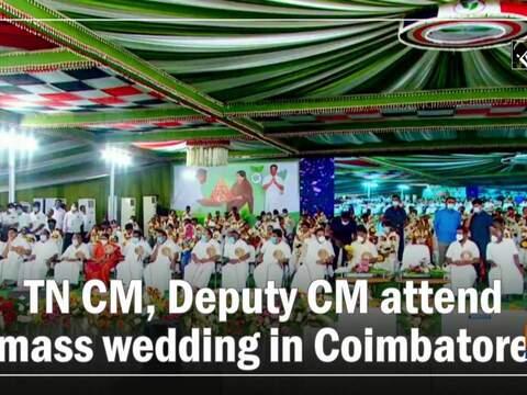 TN CM, Deputy CM attend mass wedding in Coimbatore