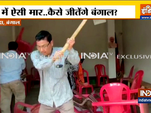 Bengal Polls 2021: Unhappy with ticket distribution BJP cadres ransack party office in Malda