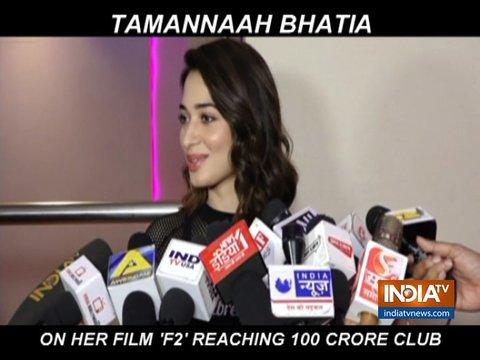 अपनी तेलगु फिल्म F2 के 100 करोड़ क्लब में शामिल होने पर तमन्ना भाटिया ने की पार्टी