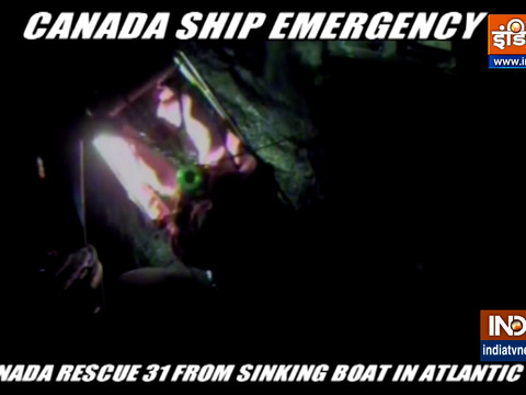 US, Canada rescue 31 from sinking boat in Atlantic
