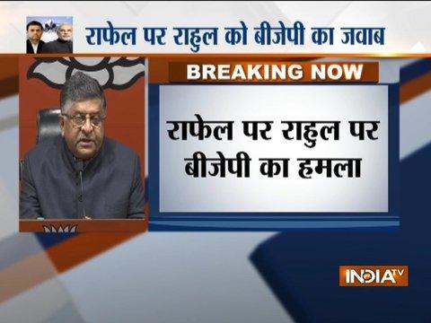 राफेल पर राहुल गांधी ने बार-बार झूठ बोला: रविशंकर प्रसाद