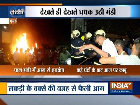 मुंबई में गोदाम में लगी भीषण आग, कोई हताहत नहीं