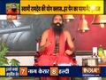 Swami Ramdev shares tips for yoga on chair