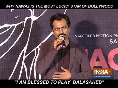 I'm blessed to play Balasaheb: Nawazuddin Siddiqui on Thackeray