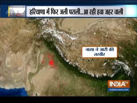 पंजाब-हरियाणा में धड़ल्ले से जल रही है पराली, नासा की तस्वीर में साफ दिखा RED SPOT