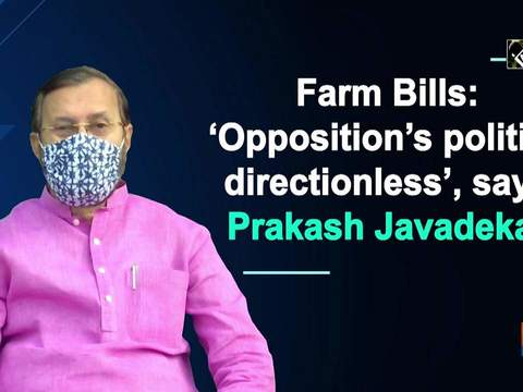 Farm Bills: 'Opposition's politics directionless', says Prakash Javadekar