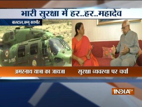 Nirmala Sitharaman, Army chief visit J-K to review Amarnath Yatra security arrangements
