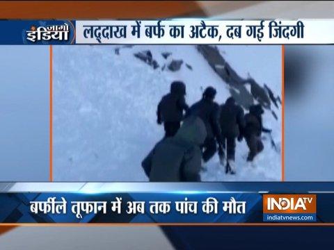 जम्मू-कश्मीर: बर्फीले तूफान में अब तक पांच की मौत