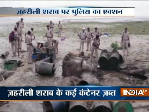 Police begins action against liquor mafias in Bihar, seizes several drums of toxic liquor