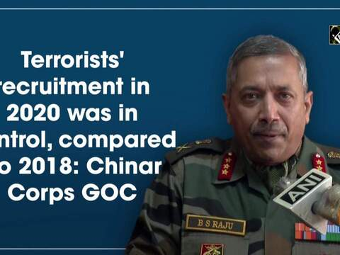 Terrorists' recruitment in 2020 was in control, compared to 2018: Chinar Corps GOC