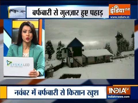 जम्मू कश्मीर के डोडा में बिछी बर्फ की चादर