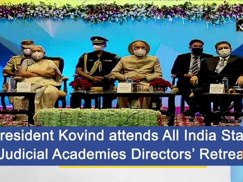 President Kovind attends All India State Judicial Academies Directors' Retreat