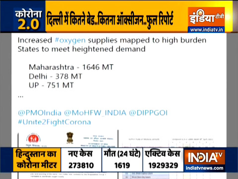 Covid-19: Centre increases supply of oxygen to Delhi, Maharashtra, UP