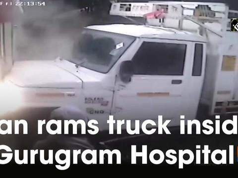 Man rams truck inside Gurugram Hospital
