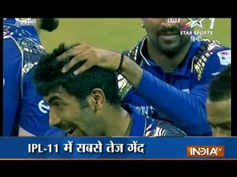 बुमराह के शानदार गेंदबाज़ी से मुंबई ने अपनी प्लेऑफ की उम्मीद जगाए रखी